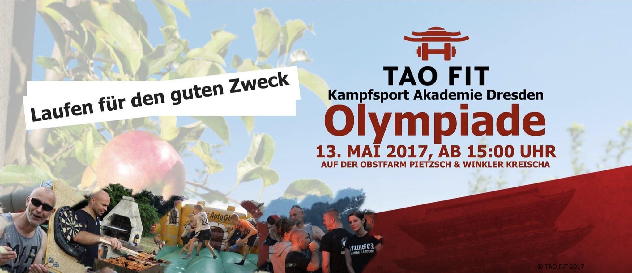 Werbung für TAO FIT Olympiade