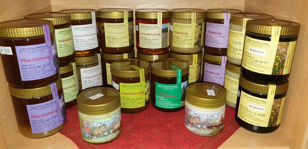 13 verschiedene Honigsorten